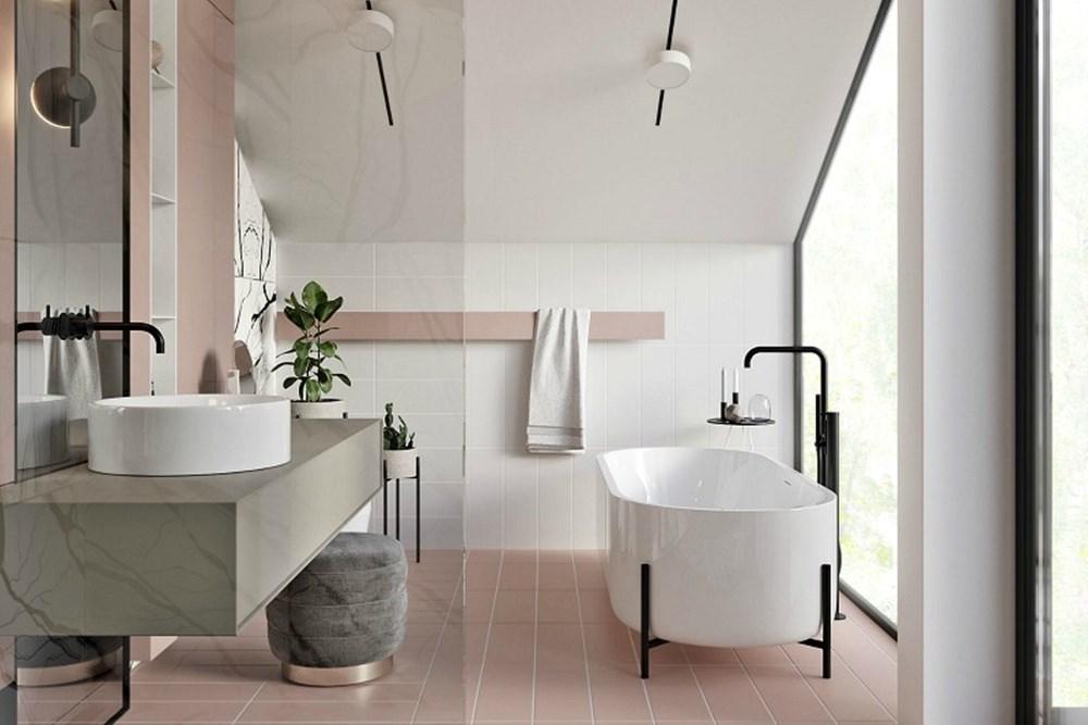 2020 için 8 Banyo Trendi: Tasarım, Renk ve Karo Fikirleri