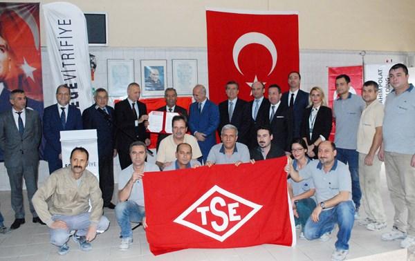 """Ege Vitrifiye'ye TSE'den """"ÇİFT YILDIZ BELGESİ"""""""