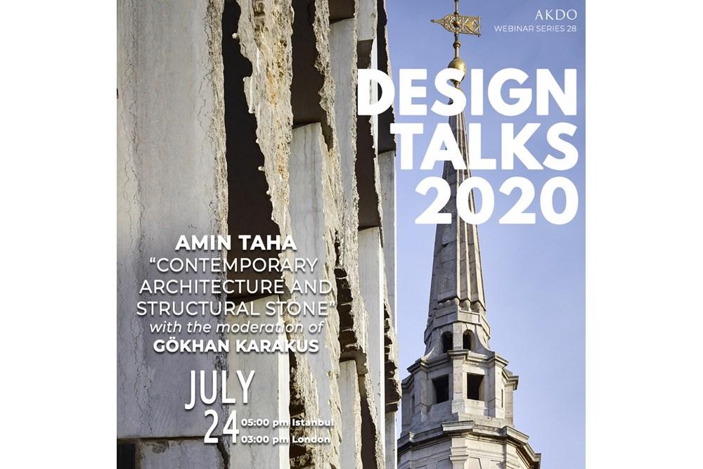 "AKDO ""Online"" Design Talks    Amin Taha & Gökhan Karakuş"