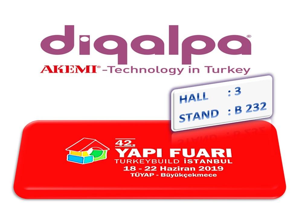 Digalpa Bu Sene Yine Türk Yapı Sektörünün ve Bölgesinin Lider Yapı Fuarında!