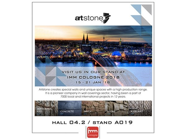 Artstone at IMM Cologne 2018 with its Products that Make a Difference...