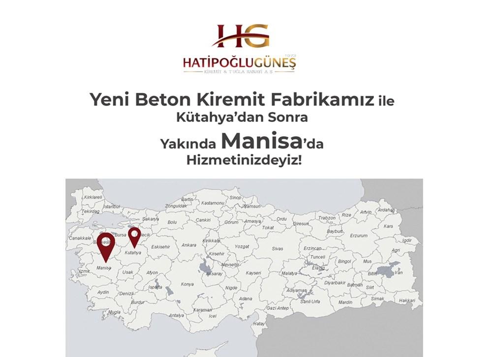Hatipoğlu Güneş Yeni Beton Kiremit Fabrikası ile Kütahya'dan Sonra Yakında Manisa'da!