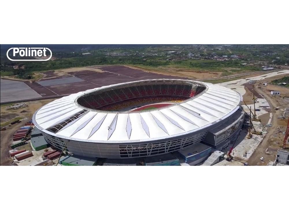 Kamerun Japoma Stadyumu Polinet Kilitli Sistem Polikarbonat ile Kaplandı