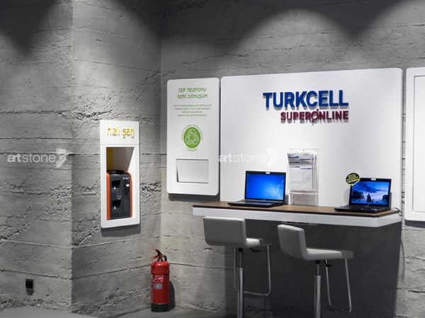 Ödüllü Tasarımıyla Turkcell Flagship Mağazaları'nda Artstone Kullanıldı!