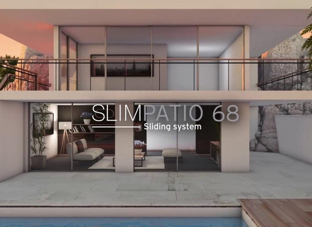 Reynaers Alüminyum'dan Yeni Minimal Sürme Sistemi: SlimPatio 68