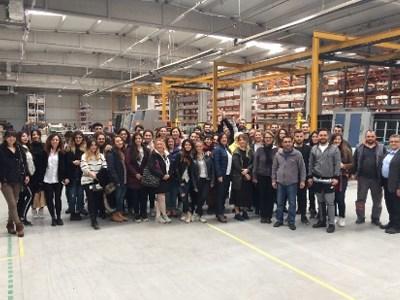 Yaşar Üniversitesi İç Mimarlık Öğrencileri TRIMline Balıkesir Fabrikasını Gezdi