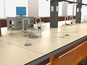 Kimyasallara Dayanıklı Kompakt Laminat Laboratuvar Tezgahı