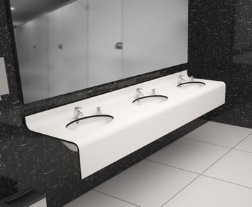 Compact Laminated Bathroom Countertop