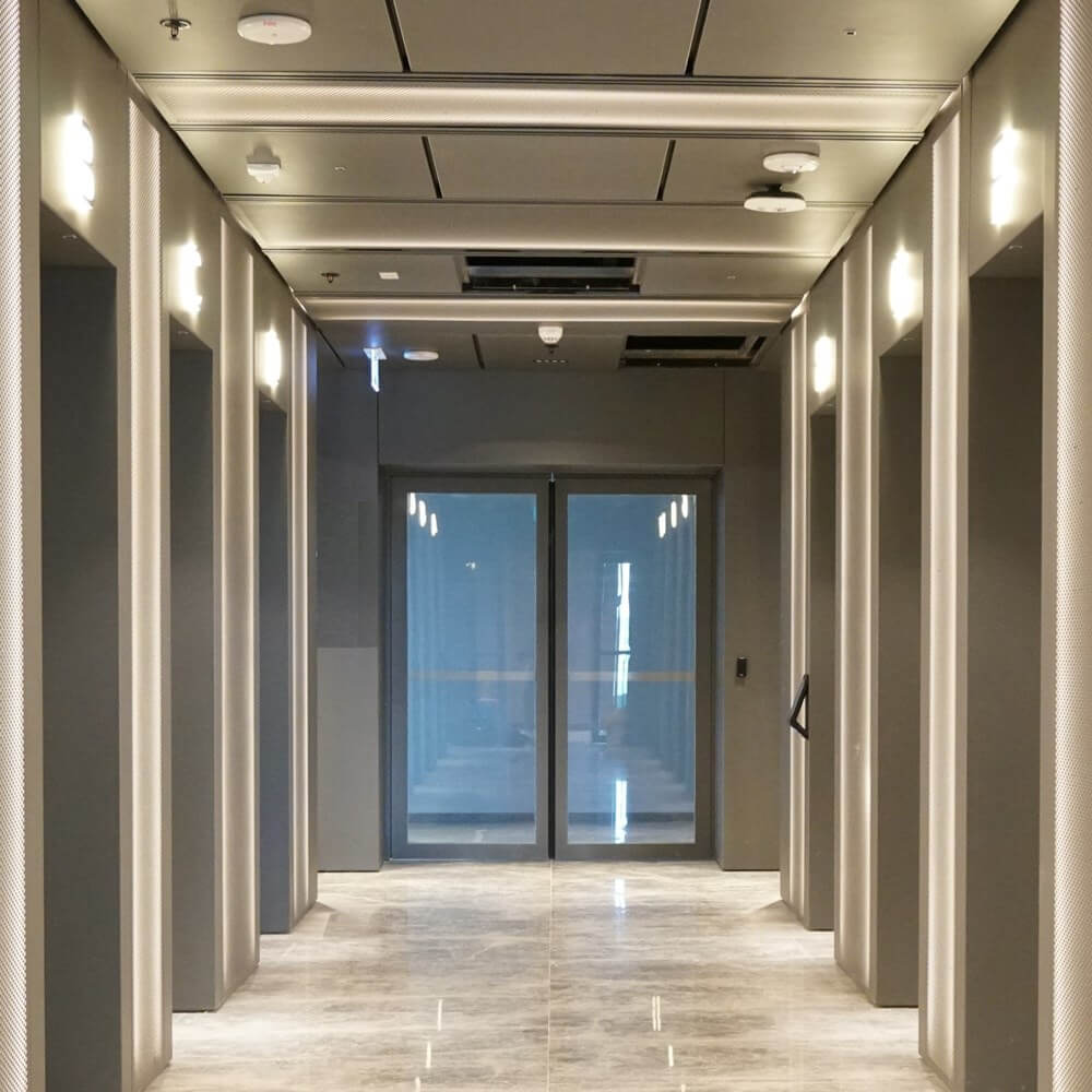 Fire Resistant Glass Automatic Sliding Doors