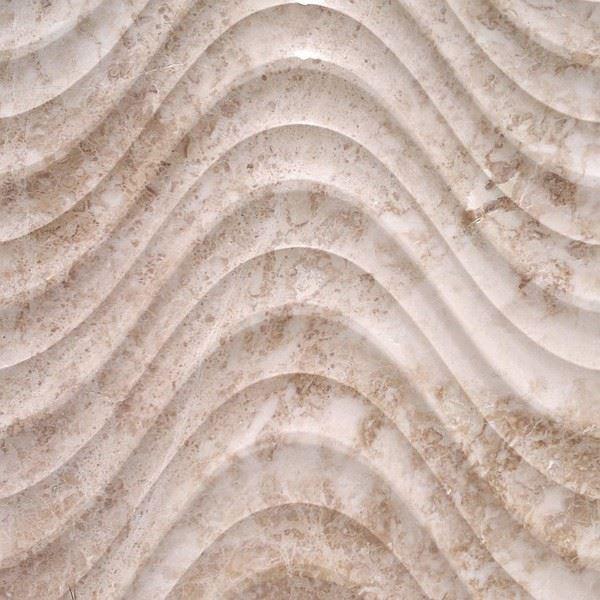 3 Boyutlu Doğal Taş Duvar Paneli/Cappuccino Bej Mermer
