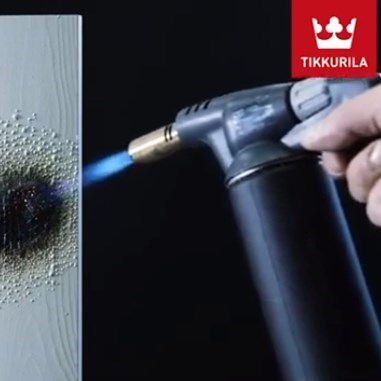 Tikkurila High-performance Intumescent Coating for Wood