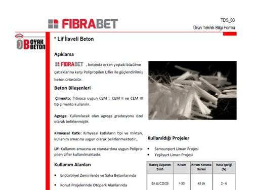 Fibrabet® Ürün Broşürü