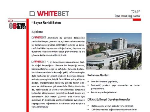 Whitebet® Ürün Broşürü