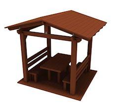 Çatılı Piknik Masası