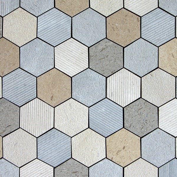 Doğal Taş Dış Cephe Kaplaması/Moca Hexagon