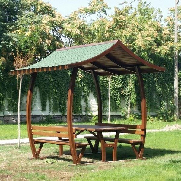 Üçgen Çatılı Piknik Masası
