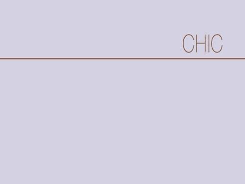 """""""Chic"""" Koleksiyonu Kataloğu"""