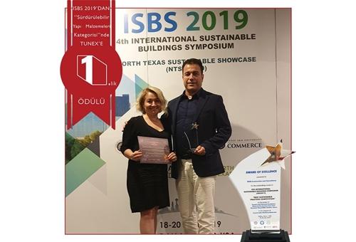 ISBS2019 Sürdürülebilir Yapı Malzemeleri Kategorisi Birincilik Ödülü