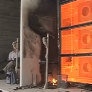 Camlı Yangın Kapısı | Radyant Isı Testi