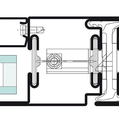 Janisol Steel and Stainless Steel Door - 23
