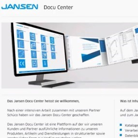 Download DWG and Technical Files from Jansen DocuCenter