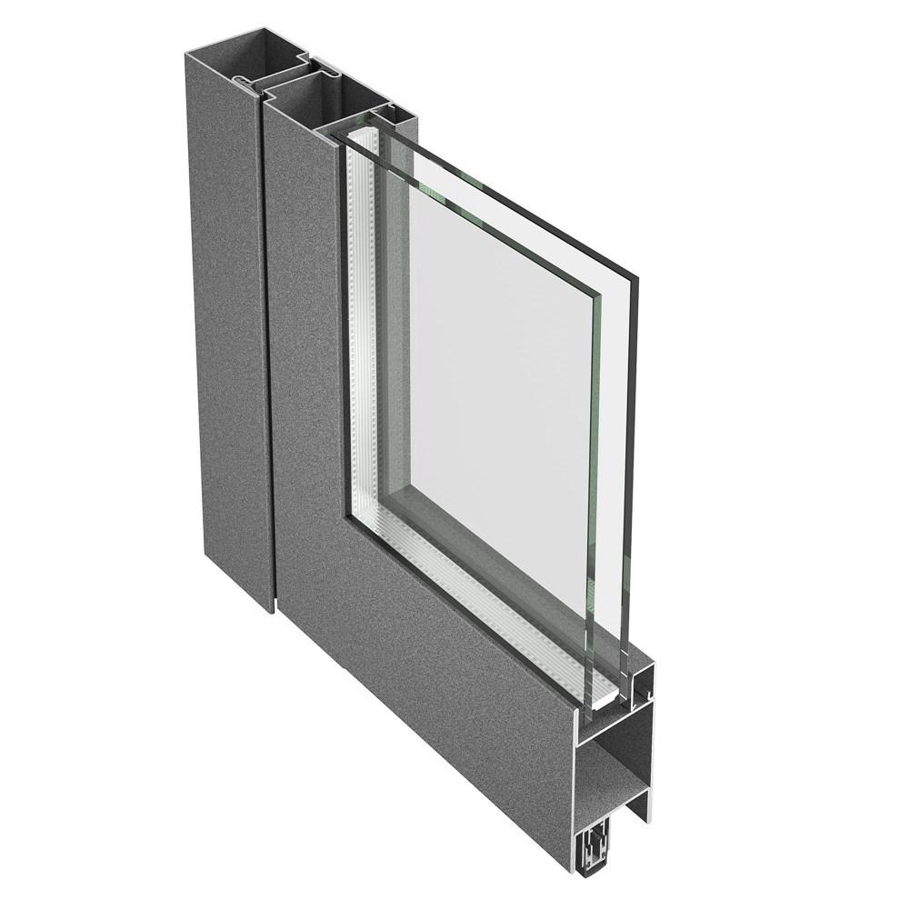 Jansen Economy 50 Steel and Stainless Steel Door - 6