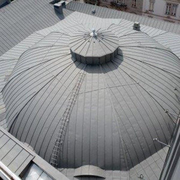 Titanium Zinc Vault and Dome Roofs