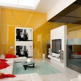 Glossy Paint Applied Decorative Glass - 2