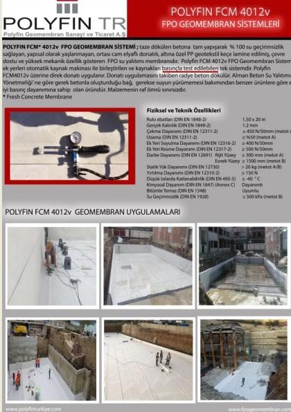 Polyfin FCM 4012v FPO Geomembran - Ürün Broşürü