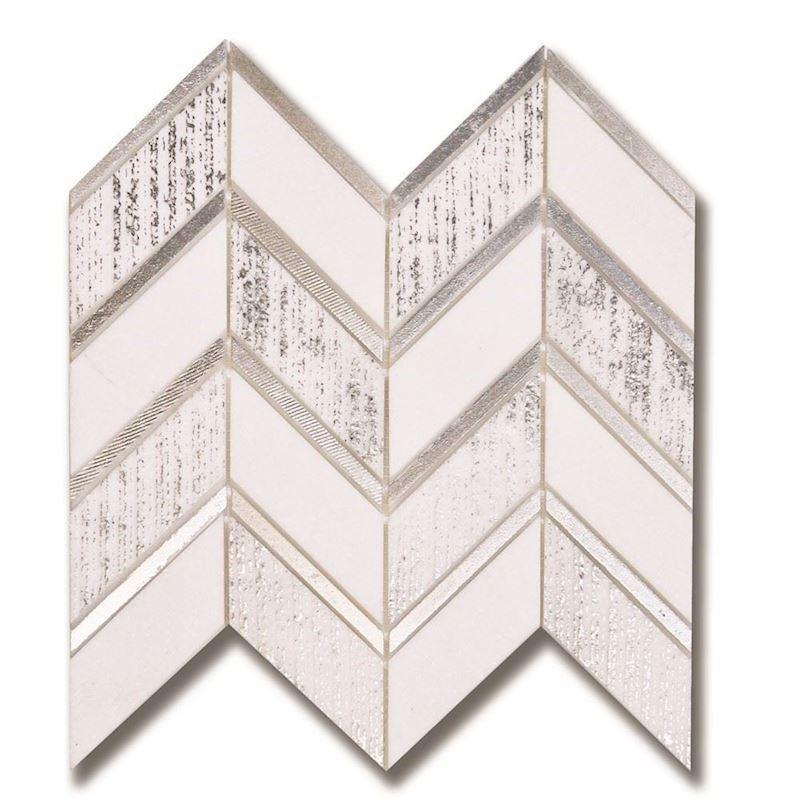 AKDO MOZAİK Luminous | Ray Thassos(H) w/ Silver(Combed)