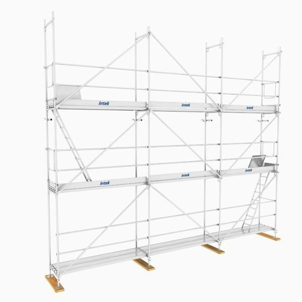 INTESAFE H Type Secured Facade Scaffolding System