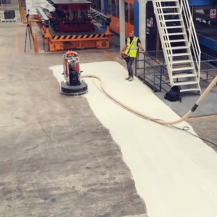 Does Production Stop During Concrete Polishing Application?