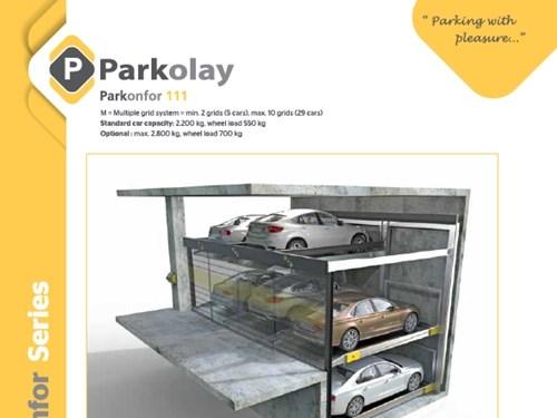 Parkonfor 111 Yarı Otomatik Otopark Sistemi Ürün Teknik Dosyası (EN)