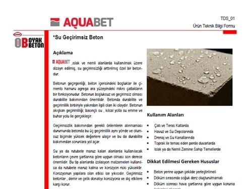Aquabet Ürün Broşürü