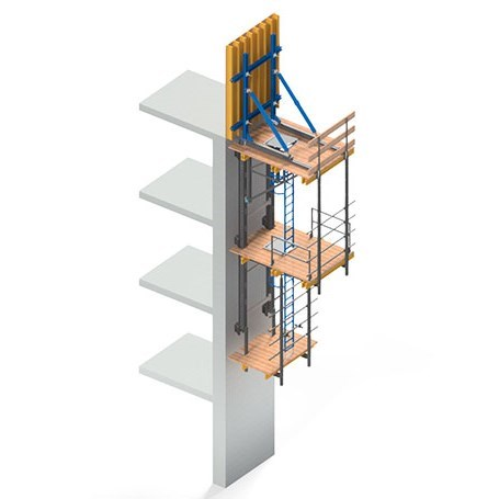 WOODSET® Hydraulic Climbing Formwork System