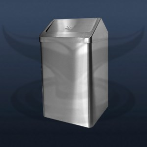 Oval Corner Trash Can With Roof Cover | STR-001