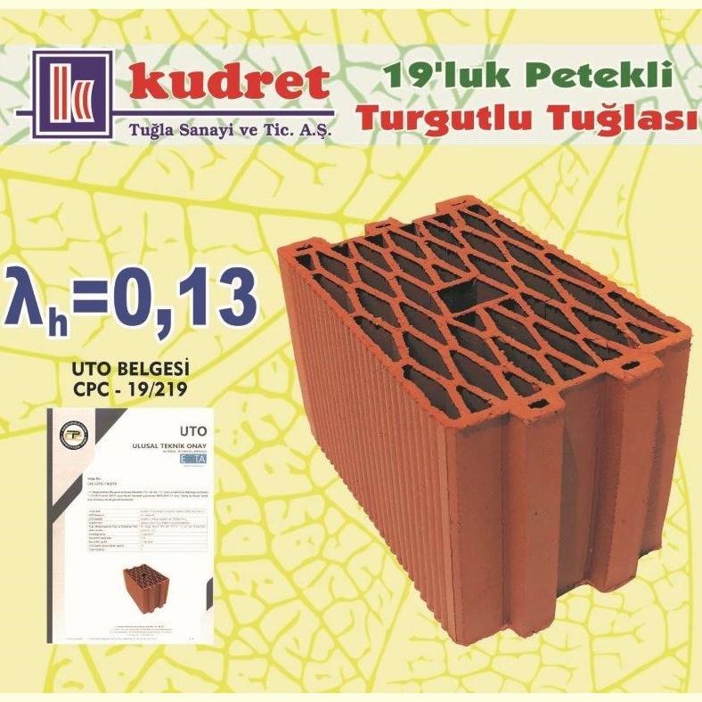 19 cm Honeycomb Turgutlu Brick  - 0