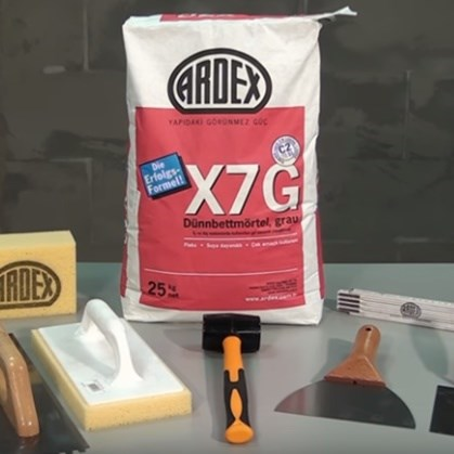 ARDEX X 7 G Uygulama