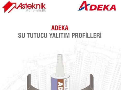 Adeka Su Tutucu Yalıtım Profilleri