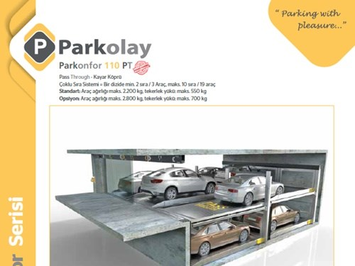Parkonfor 110 PT Kayar Köprü Ürün Teknik Dosyası