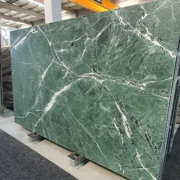 Marble Slab | Amazon Green Leather Finish - 1