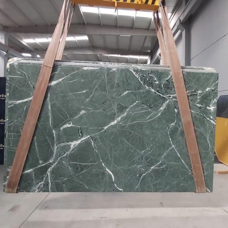 Marble Slab | Amazon Green Leather Finish - 2