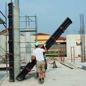 Reusable Plastic Modular Formwork for Round Columns
