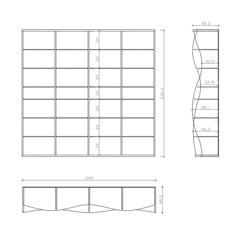 Waveshelf Bookcase - 2