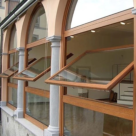 Wooden Pivot Window System