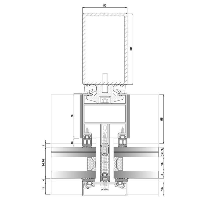 Steel Reinforced Facade System | BG 50 STEEL