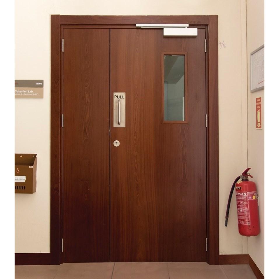 Fire Resistant Wooden School / Dormitory Door