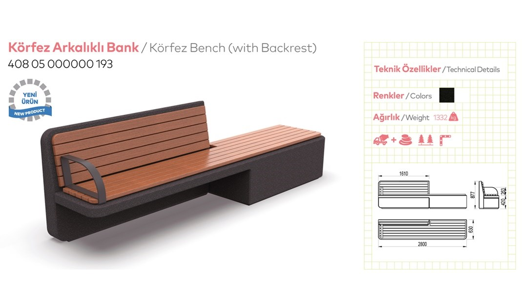 Benches with Backrest - 2