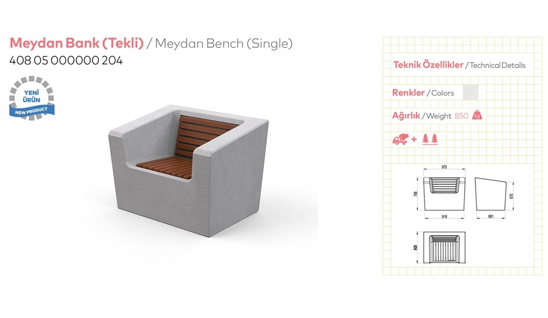Benches with Backrest - 11