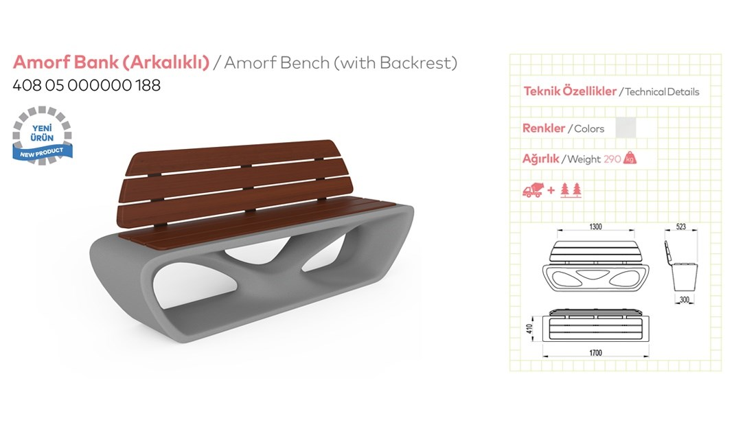 Benches with Backrest - 13